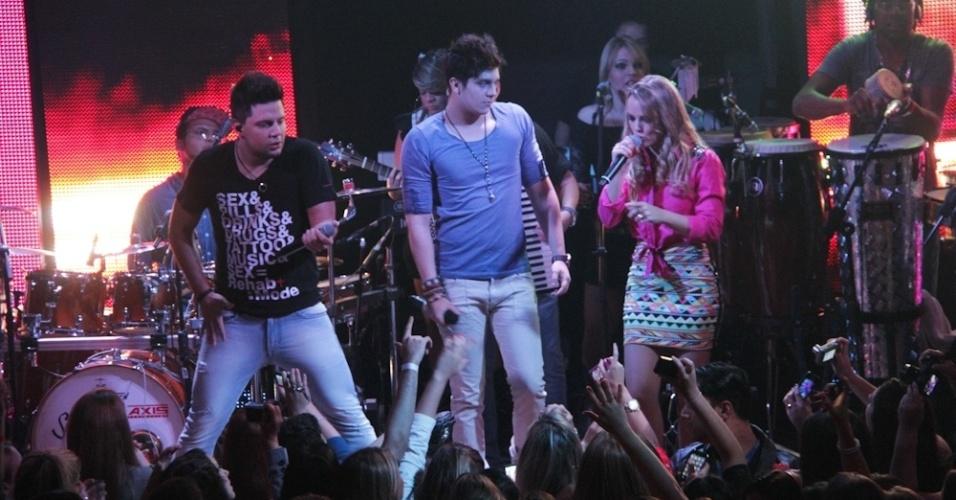 Luan Santana se apresenta com a dupla Thaeme & Thiago (13/9/12)