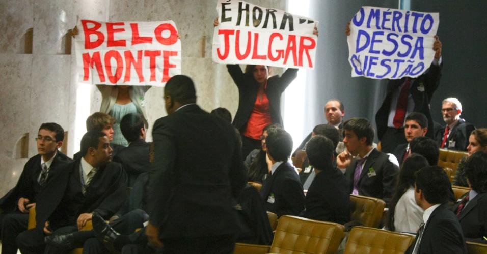 Protesto contra a construção da usina hidrelétrica de Belo Monte