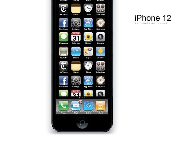 Quer ver como serão as próximas versões do iPhone? É só rolar (muito) a página de um site criado para tirar sarro do novo iPhone 5 (clique em Mais)