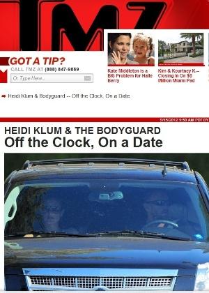 Heidi Klum é vista com Martin Kirsten, o segurança com quem ela estaria tendo um relacionamento (15/9/12)