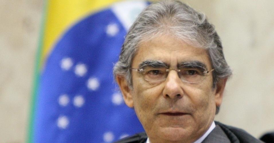 17.set.2012 - Ministro Ayres Britto preside sessão do julgamento do mensalão no Supremo Tribunal Federal (STF) , em Brasília