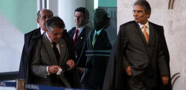 17.set.2012 - Ministros do Supremo Tribunal Federal retomam o julgamento do mensalão - Antonio Araujo/UOL