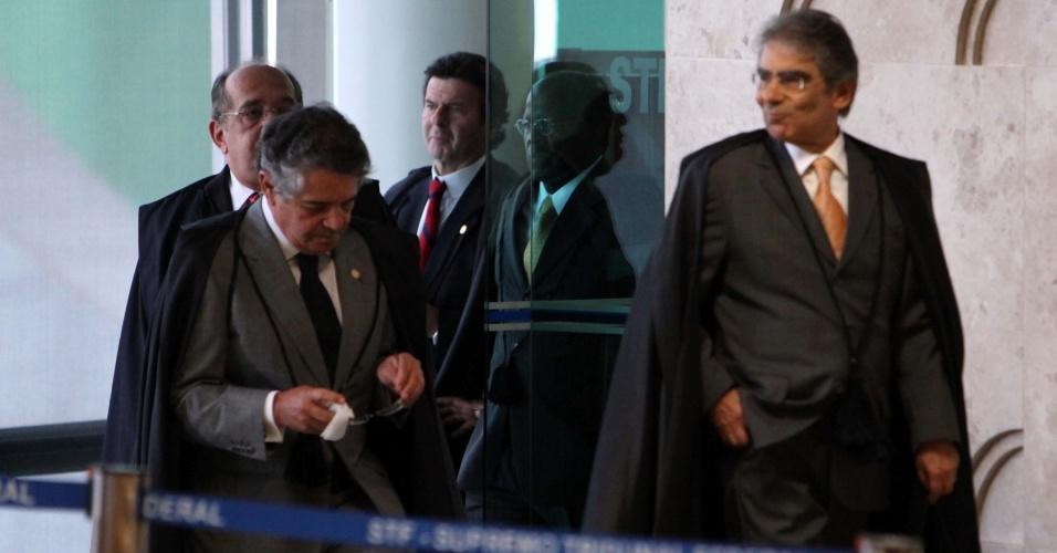 17.set.2012 - Ministros do Supremo Tribunal Federal (STF) retomam o julgamento do mensalão