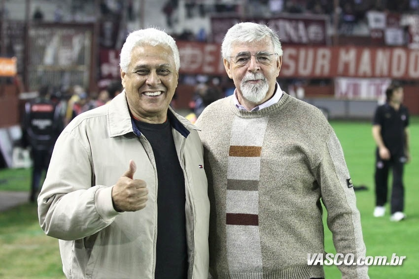 Roberto Dinamite e Antônio Peralta, dirigentes do Vasco da Gama