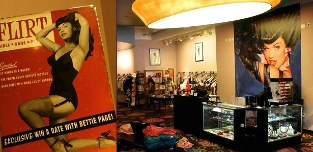 Loja inspirada no estilo da pin-up Bettie Page, em San Diego, cidade na Califórnia - Adriana Terra/UOL
