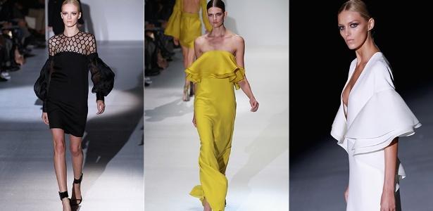 Modelos mostra looks da Gucci para o Verão 2013 durante a semana de moda de Milão (19/09/2012) - Getty Images