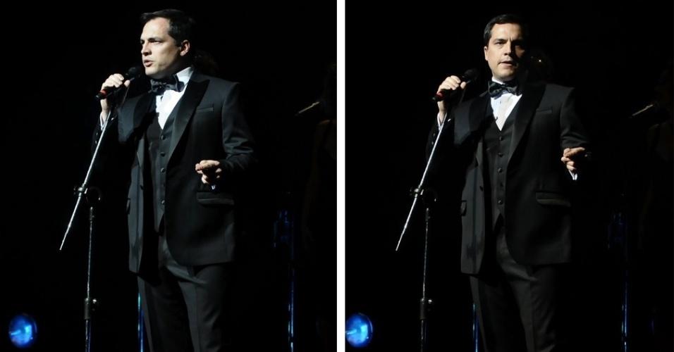 O ator e cantor Daniel Boaventura durante apresentação ao vivo no Teatro Abril, em São Paulo (19/9/12)