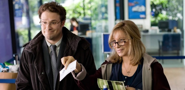 """Seth Rogen e Barbra Streisand aparecem na primeira imagem da comédia """"Minha Mãe é uma Viagem"""" (19/9/12)"""