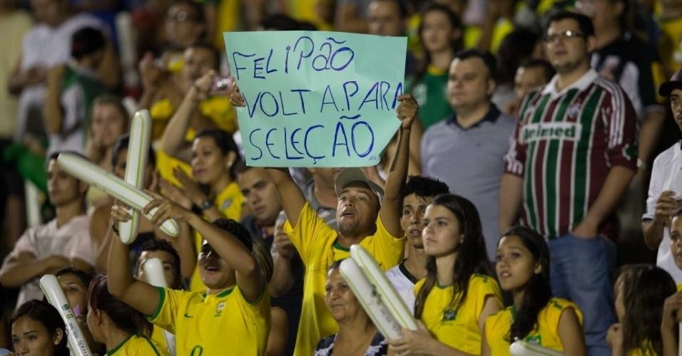 Torcedor pede Luiz Felipe Scolari, recém-demitido do Palmeiras, para técnico da seleção (20/09/2012)