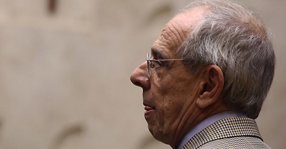20.set.2012 - Advogada Marcio Thomaz Bastos acompanha o julgamento do mensalão, no plenário do Superior Tribunal Federal, em Brasília