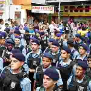 20.set.2012 -As autoridades inauguram a primeira UPP (Unidade da Polícia Pacificadora) da favela da Rocinha, no Rio de Janeiro - Luiz Roberto Lima/Futura Press