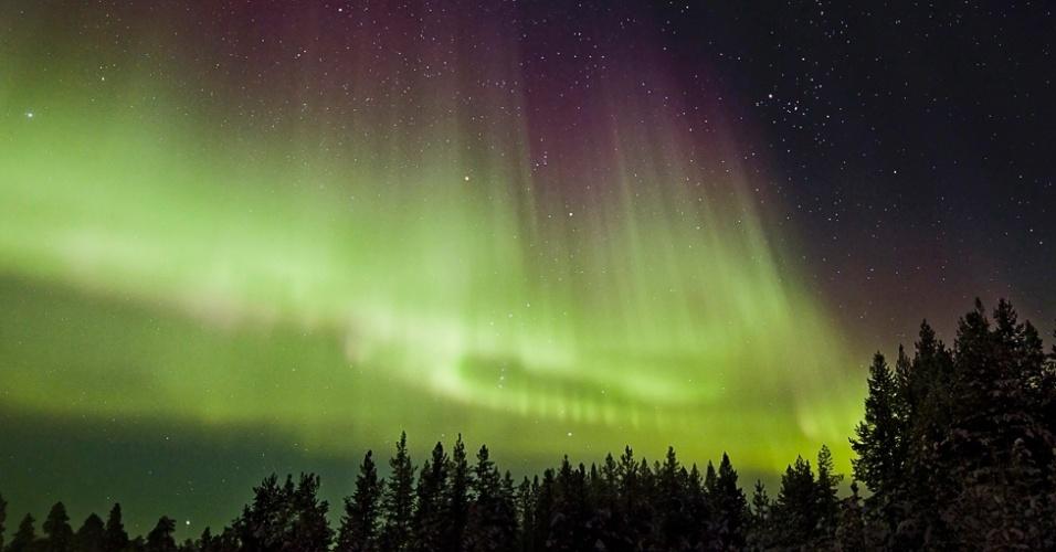O indiano Jathin Premjith, de 15 anos, capturou a sua Chuva Celestial mostrando não apenas a beleza da Aurora Boreal nas proximidades do Círculo Polar Ártico, como a constelação de Orion, entre outros detalhes do céu
