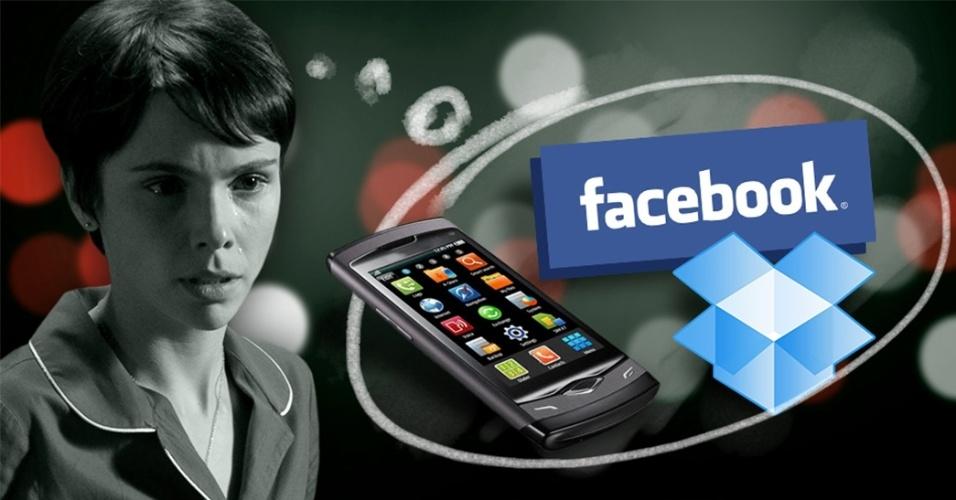 chamadas Nina facebook smartphone
