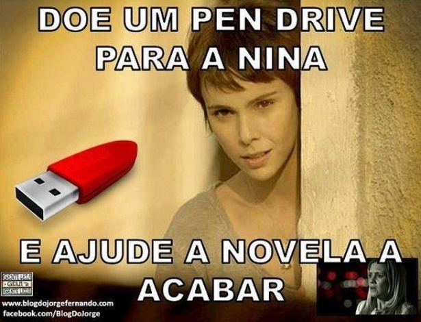 No Facebook, vários ''noveleiros'' de plantão reclamaram da falta de ''jogo de cintura tecnológico'' de Nina em ''Avenida Brasil''