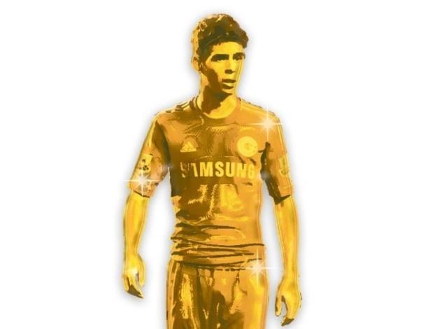 Oscar vira estátua de ouro após atuação brilhante pelo Chelsea contra a Juventus na Liga dos Campeões