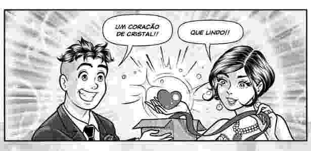 Página da HQ que mostra o casamento de Mônica e Cebolinha - Divulgação