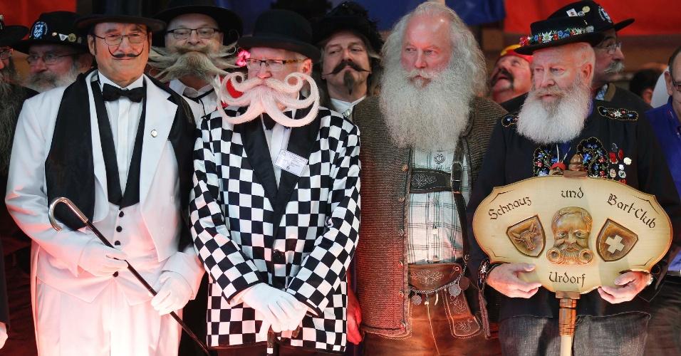 22.set.2012 - Competidores participam, neste sábado (22),do concurso europeu que irá eleger a melhor barba e bigode. Realizada em Mulhouse, no leste da França, a premiação teve mais cem partipantes