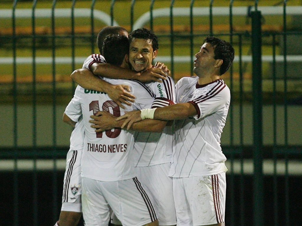 Fred comemora gol marcado na partida entre Fluminense e Náutico