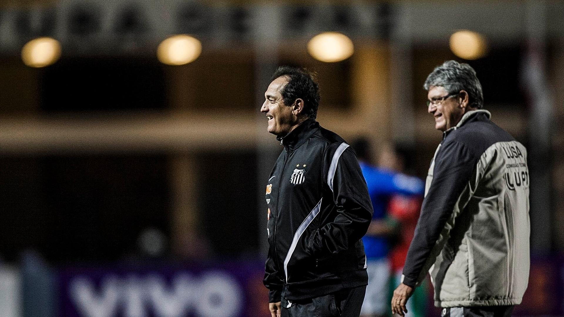Muricy Ramalho e Geninho, técnicos do Santos e da Lusa, se encontraram antes do clássico no Pacaembu
