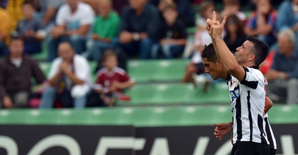 Di Natale agrade após marcar no duelo contra o Milan pelo Italiano