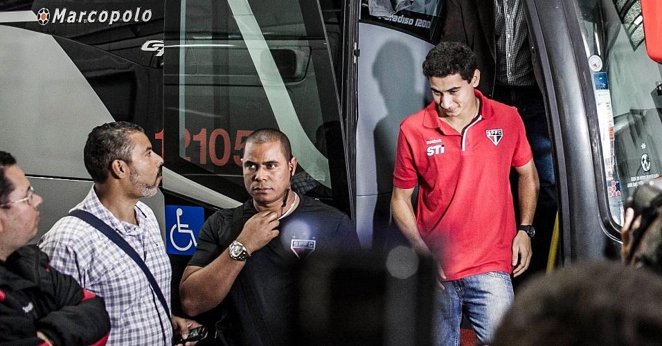 Ganso chega para a sua apresentação oficial como jogador do São Paulo
