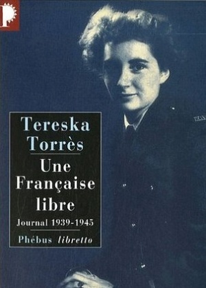 """Tereska Torrès  na capa de seu livro """"Une Française Libre"""" - Reprodução"""