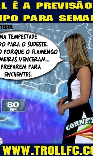 Corneta FC: Previsão do tempo para a semana: chuva. Muita chuva.