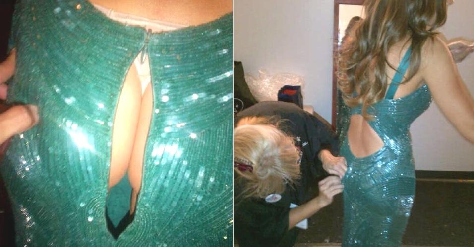 Sofia Vergara mostra vestido rasgado durante o Emmy 2012 (23/9/12)