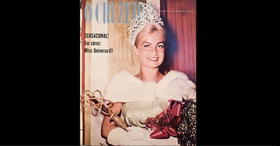 """1961 - Marlene Schmidt, Miss Universo 1961, não esteve só na """"Manchete"""", mas também na """"O Cruzeiro"""""""