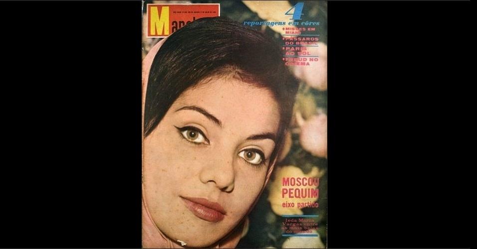 """1963 - A revista """"Manchete"""" traz na capa Ieda Maria Vargas, Miss Brasil 1963. A gaúcha foi a primeira brasileira a ser coroada Miss Universo"""