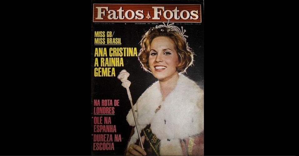 "1966 - ""Fatos e Fotos"" traz Ana Cristina Rídzi, que foi coroada como a 12ª Miss Brasil"