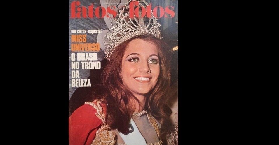 """1968 - A revista """"Fatos e Fotos"""" traz na capa a Miss Brasil, Martha Vasconcellos, coroada Miss Universo 1968"""