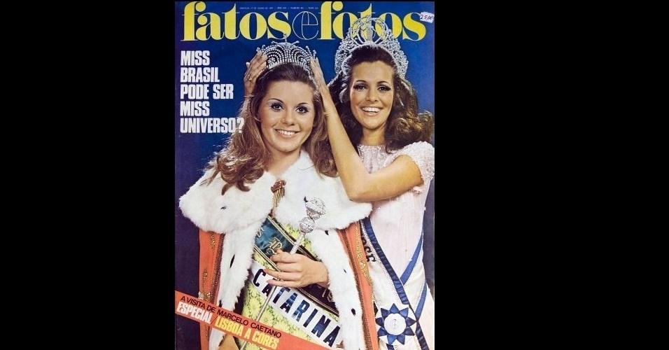 1969 - Antes das novelas, as passarelas: Vera Fischer foi Miss Santa Catarina e Miss Brasil em 1969. A chamada da revista foi otimista e a catarinense até passou de fase, mas não ficou entre as cinco finalistas do Miss Universo