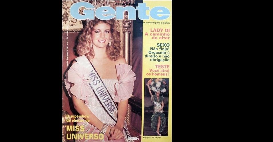 """1981 - A venezuelana Irene Sáez, Miss Universo 1981, na capa da """"Gente"""""""