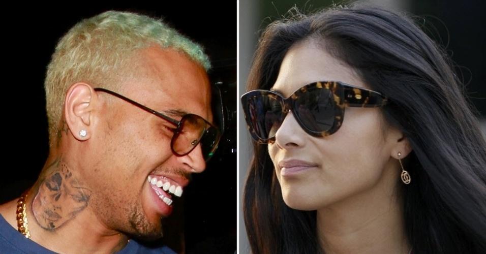 Chris Brown e Nicole Scherzinger foram fotografados próximos em boate nos Estados Unidos, gerando especulações sobre um possível relacionamento