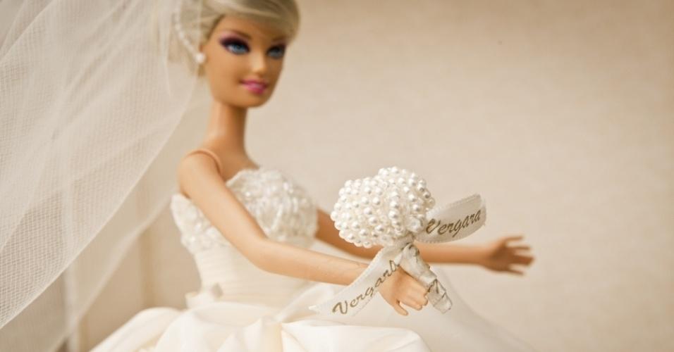 Imagem da Barbie noiva de Patrícia Vergara