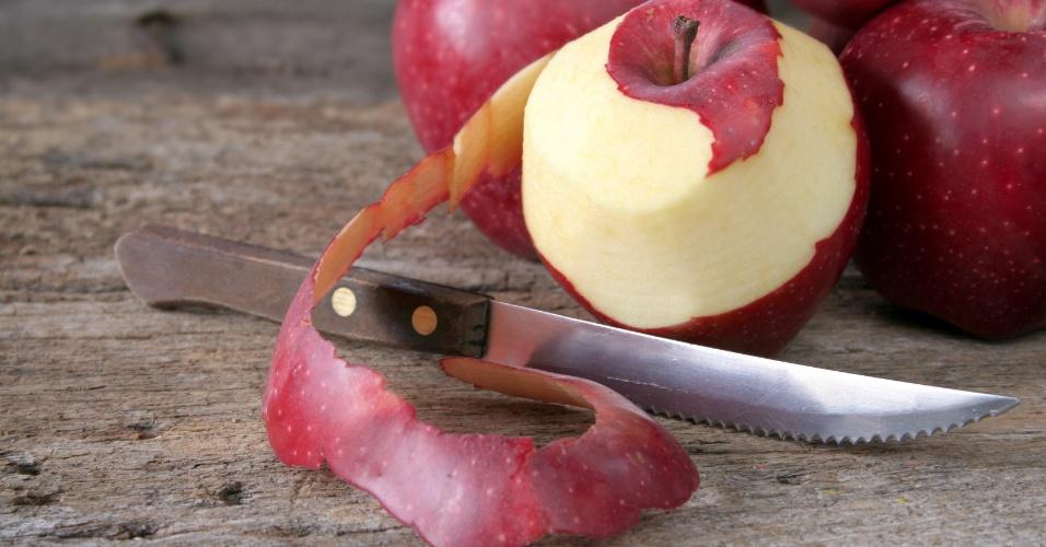 Maçã, casca de maçã