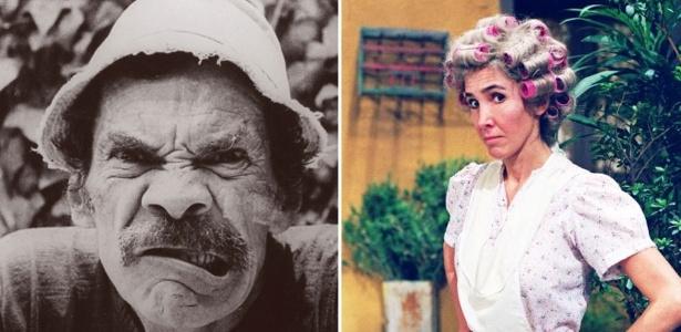 """Ramón Valdés (à esquerda) e Florinda Meza, do elenco de """"Chaves"""" - Divulgação"""