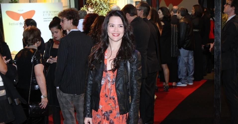 """A atriz Natália Lage prestigiou a première do filme """"Gonzaga - De Pai para Filho"""" que abriu o Festival do Rio nesta quinta, no Cine Odeon, centro da cidade (27/9/12)"""