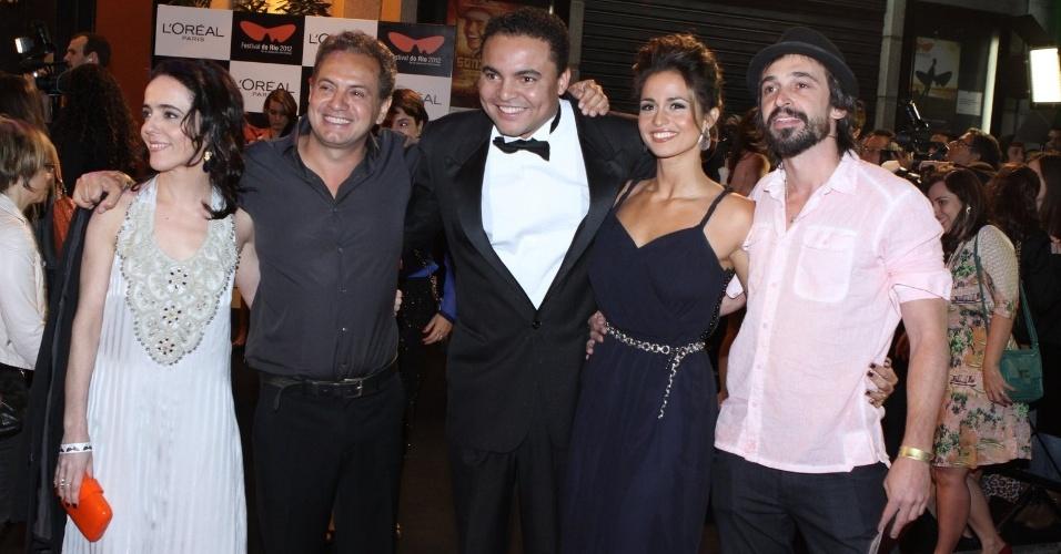 """Elenco do filme """"Gonzaga - De Pai para Filho"""" que abriu o Festival do Rio nesta quinta, no Cine Odeon, centro da cidade (27/9/12)"""