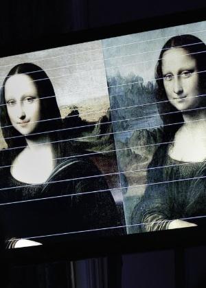 Nova versão da Mona Lisa, de Leonardo Da Vinci, é apresentada na Suíça (27/9/12) - Denis Balibouse/Reuters
