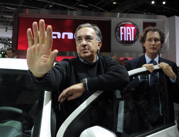 Sergio Marchionne, presidente da Fiat e da Chrysler, participa do Salão de Paris, em imagem de setembro