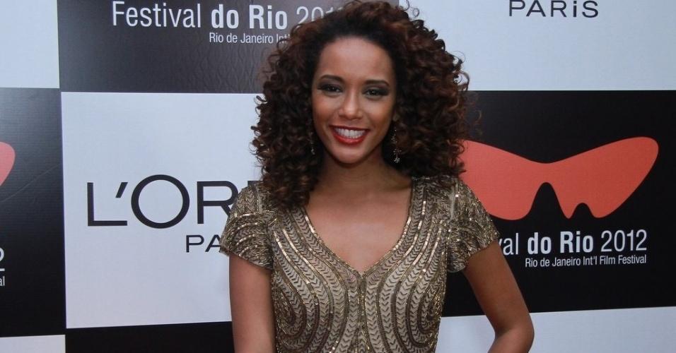 A atriz Thaís Araújo chega na festa do Festival do Rio 2012, no Imperator, Méier, Rio de Janeiro (27/9/12)