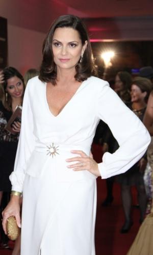 A modelo Luiza Brunet chega na festa do Festival do Rio 2012, no Imperator, Méier, Rio de Janeiro (27/9/12)