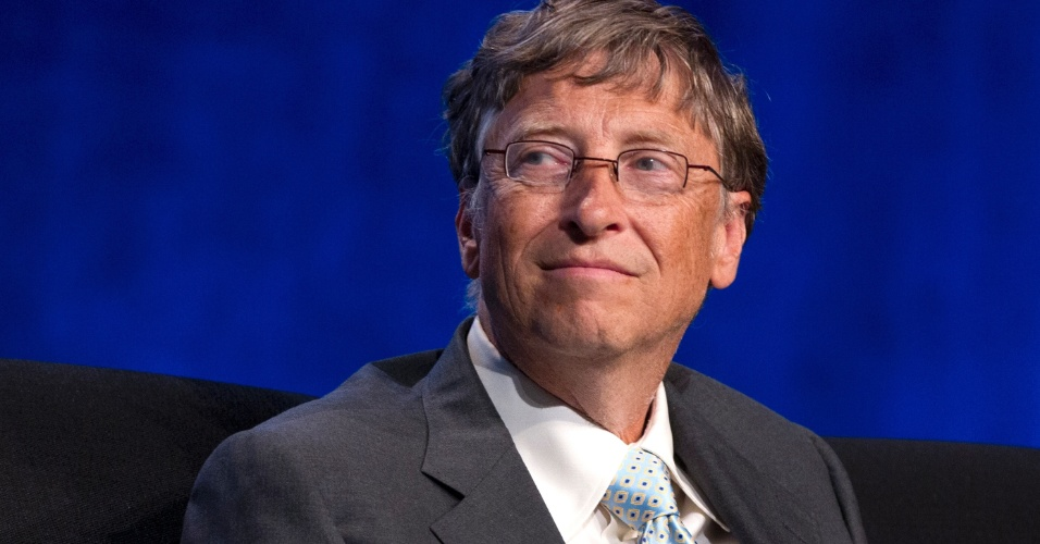 Bill Gates, cofundador da Microsoft, participa de evento sobre combate a Aids nos Estados Unidos