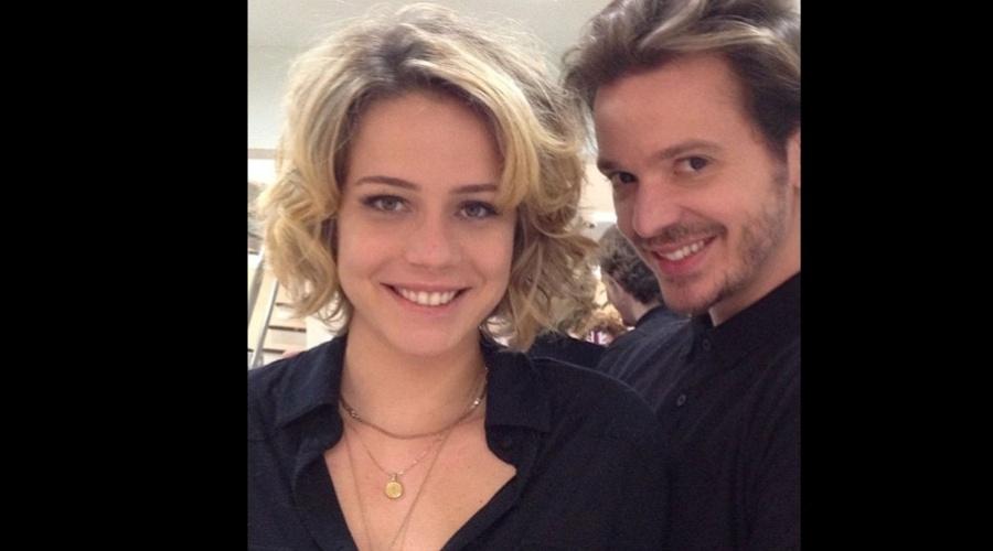 Leandra Leal cortou os cabelos após o fim das gravações da novela