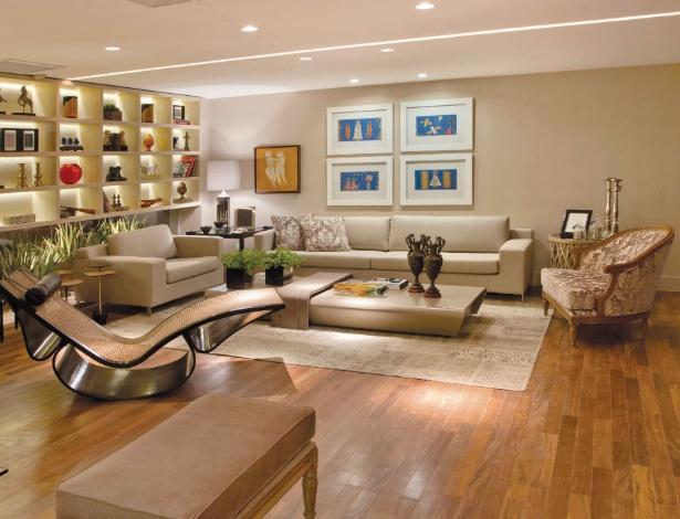 Os arquitetos Hélio Albuquerque e Sonia Peres assinam o Living, com 90 m², da Casa Cor Brasília - Divulgação
