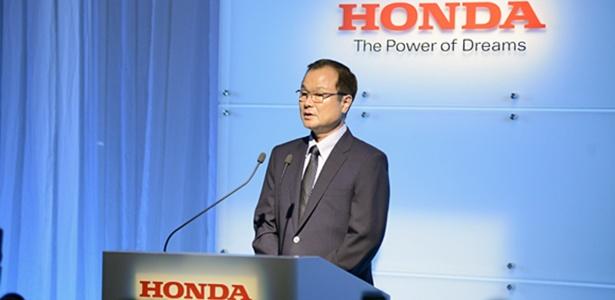 Takanobu Ito, CEO da Honda, discursa sobre planos da marca: vender 39 milhões de produtos/ano em 2017