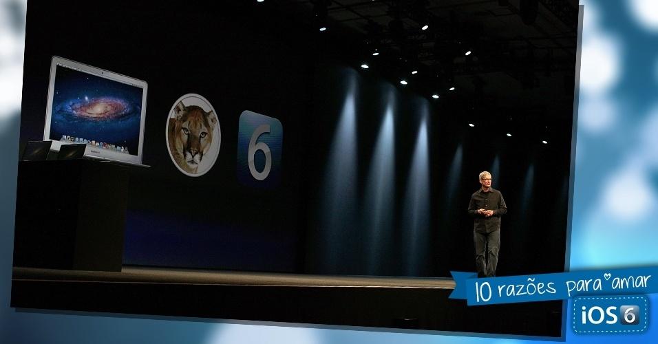 Tim Cook, diretor-executivo da Apple, fala sobre o sistema iOS 6 durante evento realizado na Califórnia