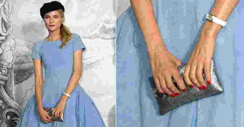 unhas arredondads - Diane Kruger - Getty Images/Montagem
